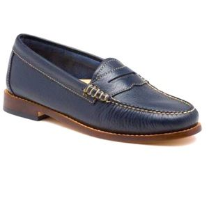 Bass Womens Nautical Whitney Weejuns Loafers Sz 7.5